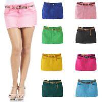 Sexy Skirt ladies Cotton Low Waist New Denim Cute Womens fashion UK Size 6-14