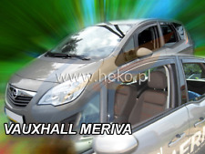 VAUXHALL MERIVA mk2 5-doors 2010-2017 2-pc wind deflectors HEKO Tinted