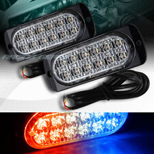 24 LED RED/BLUE CAR EMERGENCY BEACON HAZARD WARNING FLASH STROBE LIGHT UNIVERSAL