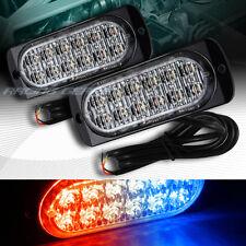 24 LED RED/BLUE CAR EMERGENCY BEACON HAZARD WARNING FLASH STROBE LIGHT UNIVERSAL