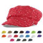 Rhinestone Newsboy Ivy Gatsby Cap Glitter Sequin Sparkly Bling Women Summer Hat