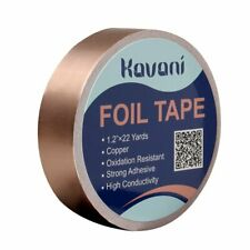 Copper Foil Tape (1.2 Inch x 22 Yards/ 30mm x 20m) with Conductive Adhesive