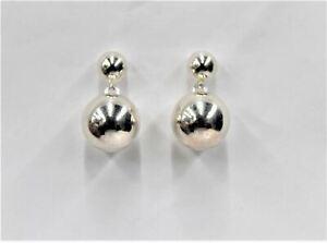 LINKS OF LONDON Ladies Sterling Silver Double Ball Drop Earrings NEW RRP100