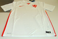 FIFA Netherlands 2015 World Cup Soccer Away Jersey SS Large White Dutch