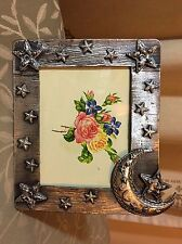 "PHOTO FRAME PEWTER - ""ON SPECIAL- "" MOON AND STARS ""  BRAND NEW. Item 702 - D3"