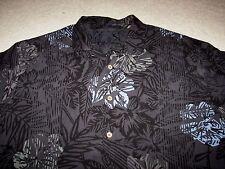 Tommy Bahama 100% Silk Men's SS Button Front Hawaiian Shirt 2XL