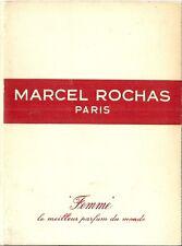 Publicité Parfum Femme Marcel Rochas 1960