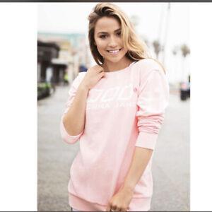 Brand New Women's LORNA JANE  VARSITY SWEAT TOP (ENCHANTED PINK SIZE XXS)