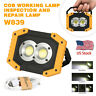 USB Rechargeable LED COB Work Light Camping Emergency Lamp Floodlight Stand US