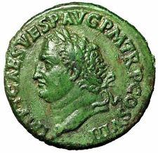 "Titus AE As ""Portrait Left & Aeternitas, Globe"" 80-81 AD RIC 220 Good VF Green"