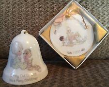 Precious Moments Porcelain Enesco Bell & Precious Moments Porcelain 88 Ornament