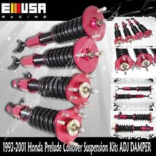 Coilover Suspension Lowering Kits ADJ Damper RED FITS 1992-2001 Honda Prelude