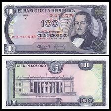 Colombia 100 Pesos, 1973, P-415, UNC, Banknotes, Original