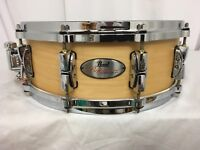 """Pearl Reference 14"""" Dia. Drum/MATTE NATURAL MAPLE/#111/New/FREE Snare Stand!!"""