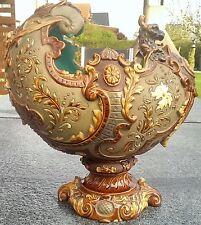Wilhelm Schiller ws&s Majolica pottery cerámica dorada historicismo 19. jhd.