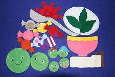 """""""Little Sweet Pea"""" Children story felt/ flannel board set"""