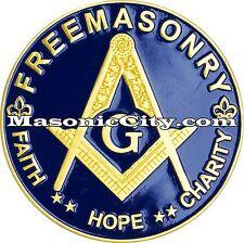 A-305 Masonic Auto Emblem FreeMasonry Car Lodge Mason Freemason PHA