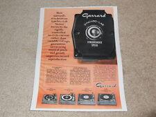 Garrard Synchro Motor Turntable Ad, 1968, SL-95,75,65,55, Article, 1 pg