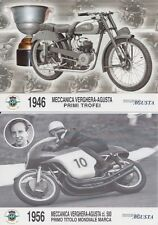 1946-1974 MV Agusta 500 road race Surtees, Agostini, Bonera collector postcards