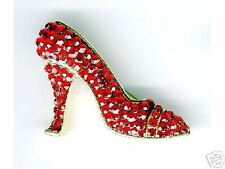 Dazzling, RED SHOE PIN, All Swarovski Crystal
