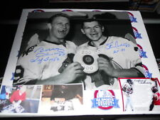 BOBBY HULL STAN MIKITA SIGNED Chicago Blackhawks 100-200  16x20 photo