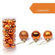 24PCS 30mm Christmas Xmas Tree Ball Bauble Hanging Home Party Ornament Decor Hot