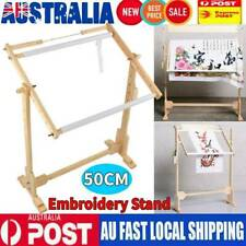 50cm Needlework Stand Lap Table Wood Embroidery Hoop Frame Cross Stitch Sewing