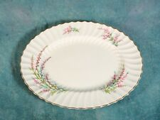 "Royal Doulton BELL HEATHER SCALLOPED Gold 17"" Oval Turkey Platter 1940's SIGNED"