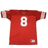 VTG Champion San Francisco 49ers Steve Young Mens Size 48 Jersey #8 Red