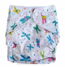 Reusable Modern Cloth Nappies One size fits most Reusable Diaper White Butterfly
