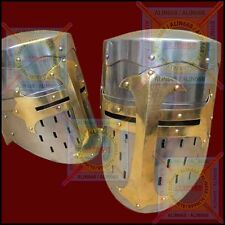 Antique Replica Medieval Knight Sugarloaf Armor Helmet Larp Role-Play Costume