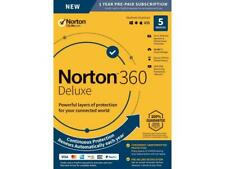 Norton 360 Deluxe 2021 5-Devices + 50GB Of Secure PC Cloud Storage PC/MAC/Mobile
