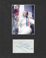 Jo Siffert 1936~1971 , Mounted Signature with Portrait Photograph , Rare