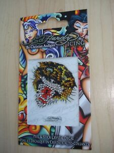 Ed Hardy 'Tiger' Peel & Stick Crystal Decal Bling Your Phone Xmas Gift BNIP
