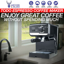 NEW Benchtop Coffee Machine W/ Frother Espresso Cappuccino Automatic Easy Clean