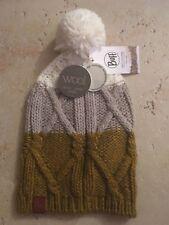 """Buff Knitted Bobble Cappello """"TRECCIA TOBACO"""" Outdoor WinterWear Fashion"""