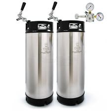 AEB Cornelius Style (Corny Keg) 19 Litre x 2 Dual Keg Starter Set Home Brew Beer