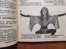 Sept-16, 1979 Santa Ana, Ca. Register TV Magazine(MACKENZIE   PHILLIPS/BOB HOPE)
