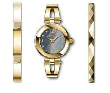 Invicta Women's Watch Angel Quartz Grey MOP Dial Yellow Gold Bracelet 29333