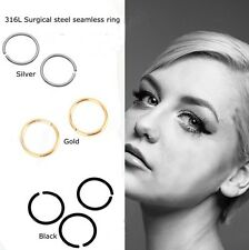 Fake Nose Ring Lip Body Parts  Silver, Black ,Gold , Multi Colours,  All Sizes.
