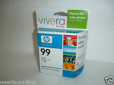 HP 99 Photo Ink Cartridge Vivera 130-Page 1600 5740 6840 460wbt 8750 C9369WN NEW