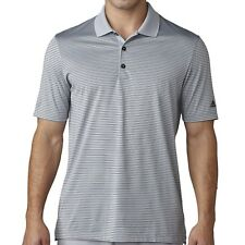 on sale 2d420 bbf04 NEW adidas 2017 Two-Color Merch Stripe Polo Shirt Grey Black Men s Medium  BC2157