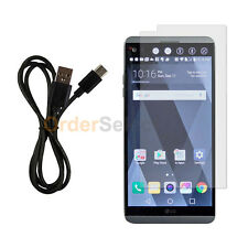NEW USB Type C Charger Cable+LCD HD Screen Protector for Android Phone LG V20