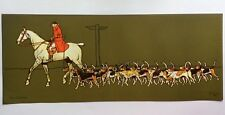 Cecil Aldin  Lithograph Prints 'The Huntsman' and 'The Whip' Equestrian Hunting
