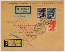 Österreich 1927 FLUGPOST-BRIEF, WIEN nach BERLIN (Deutschland) (Sobetzky)