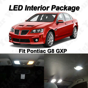 7x Pontiac G8 Xenon White SMD LED Interior Bulbs Kit + License Plate Lights