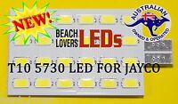 JAYCO T10 5730 24 LED INTERIOR EXTERIOR WEDGE LIGHT BULB rv leds caravan 4x4