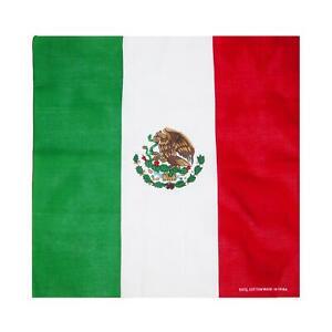 New CTM Cotton Mexican Flag Bandana