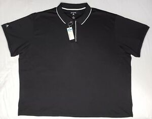 NEW Antigua Mens Elite Black Desert Dry Golf Polo Shirt Size 4XL XXXXL