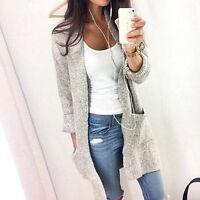 Women Long Sleeve Knitted Cardigan Loose Sweater Coat Outwear Top Plus S-4XL